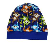Mütze Beanie Fleece - Affenbande - Kinder Jungen, blau