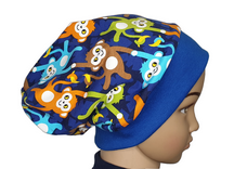 Mütze Beanie - Affenbande - Kinder Jungen, blau