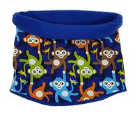 Schal/Loop Fleece - Affenbande - Jungen blau Gr. 49 - 54