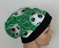 Mütze Beanie - Fussball  - Kinder Jungen, grün