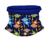 Schal/Loop Jersey - Affenbande - Jungen blau Gr. 49 - 54